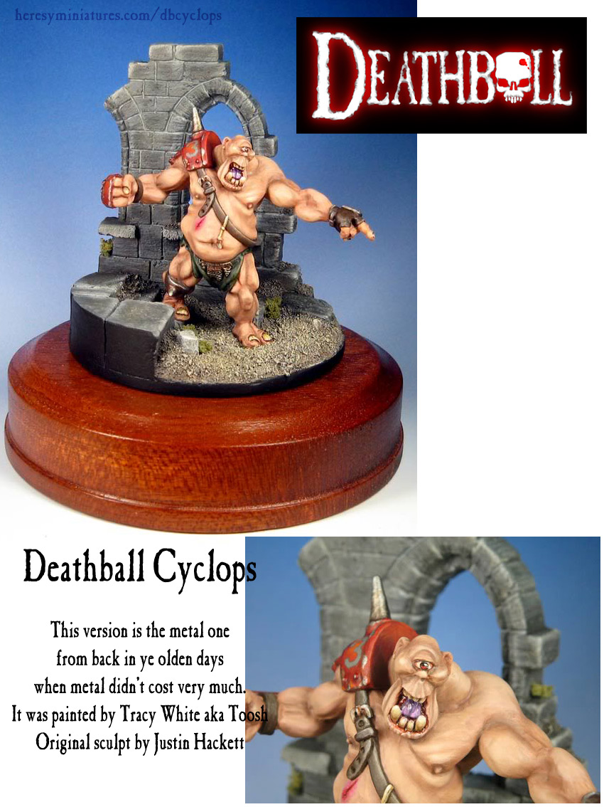 DEATHBALL RESIN OGRE CYCLOPS - Click Image to Close