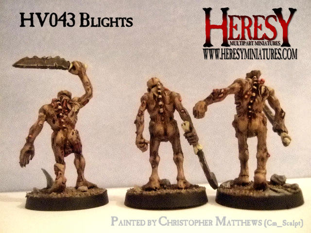 Blights Demonic Foot-troops (pack of 3) - Click Image to Close