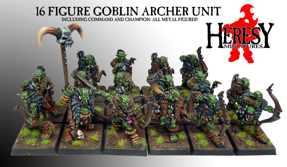 Goblin Archer 16 Figure Unit Deal Goblindeal1 163 29 75