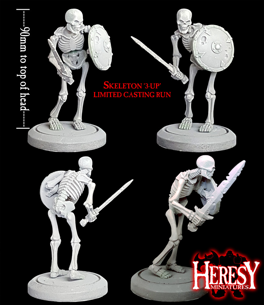 Skeleton 3-UP Model #01 (Limited Availability) - Click Image to Close