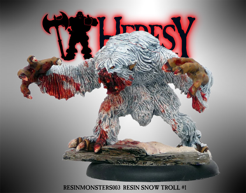 RESIN SNOW TROLL #1 - Click Image to Close