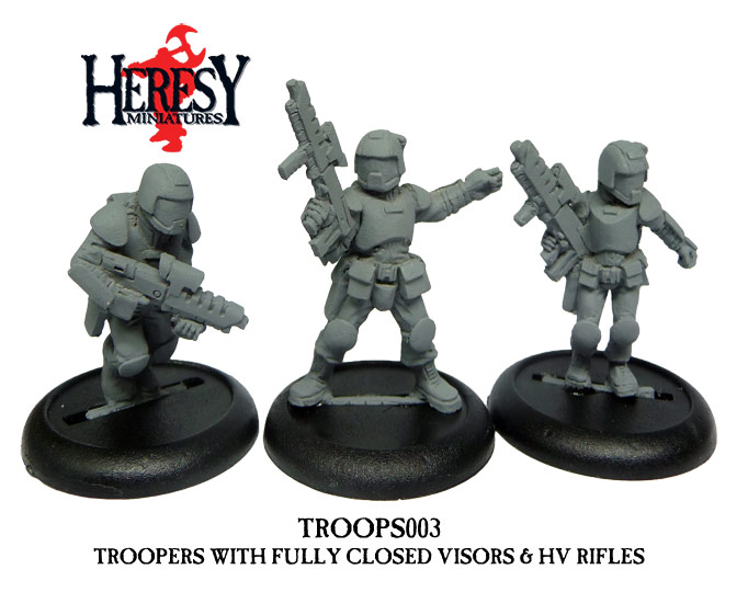 Troopers pack 3 (3 figures) [Closed Visors] - Click Image to Close